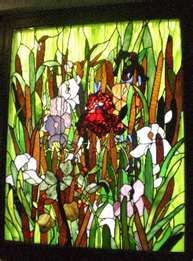 St. Louis Irises Stained Glass