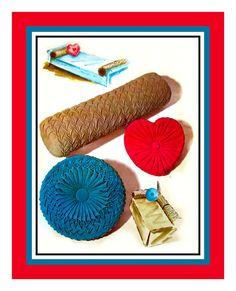 Vintage 1962  Smocked Pillows