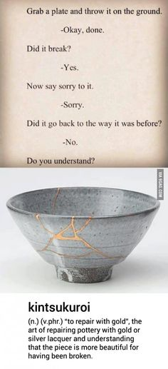 Did you learn to apologize something?