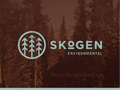 A unique branding for a tree planting collective named Skogen. The name means forest and the design was created with Nordic inspiration at the core. This logo is the perfect blend of rustic, outdoors, nature and iconic. Logo Inspiration, Logo Branding, Environment Logo, Forest Logo, Outdoor Logos, Outdoor Brands, Logo Image, Type Logo, Wood Logo