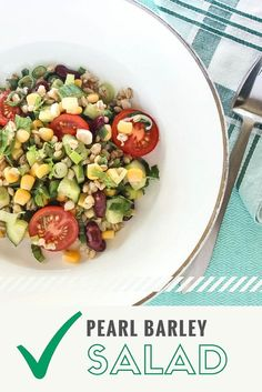 Pearl Barley Salad - Love in a little black diary
