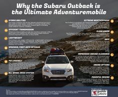 "Read our Subaru Outback Infographic to find out why this vehicle is the ""Ultimate Adventuremobile"". This mid-size SUV simply fits. Nissan Silvia, Subaru Cars, Subaru Vehicles, Most Reliable Suv, Suv Comparison, Colin Mcrae, Lexus Gx, Buick Enclave, Compact Suv"
