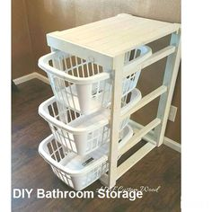 Laundry Basket Holder Laundry Room Decor Laundry Organizer Laundry Basket Organizer Laundry Furniture Clothes Basket Organizer Cabinet - Top Of The World Small Bathroom Storage, Laundry Room Storage, Laundry Room Design, Diy Bathroom Decor, Diy Storage, Storage Baskets, Storage Ideas, Bathroom Ideas, Small Laundry Rooms