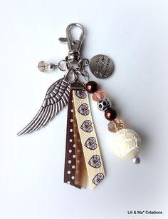 """Bijou de sac, grigri, Lili et Ma* Créations """"Coeur d'Ange"""" : Porte clés par lili-et-ma-creations"""
