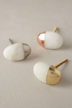 Beautiful knobs for a lovely furniture update. It reminds me white stones on beaches deepen in the golden sun :) Stonecutter Knob # home Definitely using these on my next dresser refurbishing project!