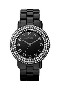 MARC BY MARC JACOBS 'Marci' Mirror Dial Crystal Bezel Watch Black  -Nordstrom  shop.catalogspree.com