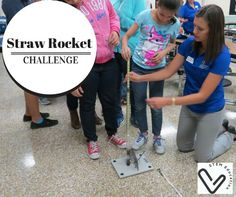 Check this amazing tool for a STEM design challenge launching straw rockets!
