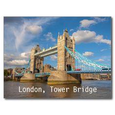 London, Tower Bridge, postcard