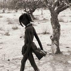 Africa: Himba girl, Namibia