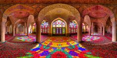 The Nasīr al-Mulk Mosque or Pink Mosque is a traditional mosque in Shiraz, Iran, located in Goade-e-Araban place.