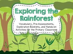 This product includes materials and activities for a literacy-based habitat study of the Rainforest. This classroom test and approved unit provides. Rainforest Biome, Rainforest Project, Rainforest Classroom, Rainforest Animals, Hands On Activities, Kindergarten Activities, Rainforest Deforestation, Rainforests, School