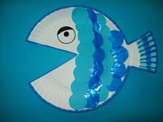 Cut out the mouth and use it as the tail. Kids loved decorating these to make their own Rainbow Fish.