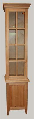 JUVIn Tornikaappi lasiovella, 45 x 38 x 200, erilaisia ovimalleja