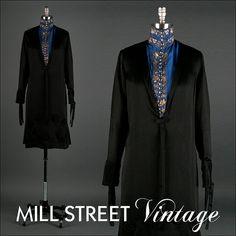 Vintage 1920s Dress  Black Silk Satin  High by millstreetvintage, $225.00