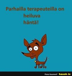 Parhailla terapeuteilla... - HAUSK.in Chihuahua, Pikachu, Motivational Quotes, Beautiful Pictures, Funny Pictures, Jokes, Positivity, Mood, Pets
