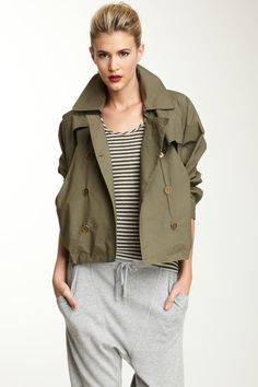 Crop Trench Jacket by L.A.M.B. on @HauteLook...cute outfit!