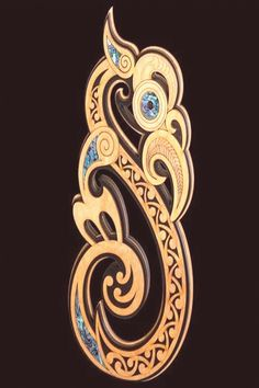 Large Maori Style Manaia Koru Wall Hanging – The Bone Art Place Abstract Sculpture, Wood Sculpture, Bronze Sculpture, Maori Symbols, Maori Designs, Tattoo Designs, Maori Patterns, New Zealand Art, Maori Art