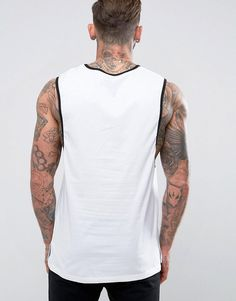 Majestic Raiders Longline Tank Exclusive to ASOS - Black