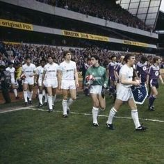 Robbo leads Spurs out for the 2nd leg of the '84 UEFA cup Final v Anderlecht