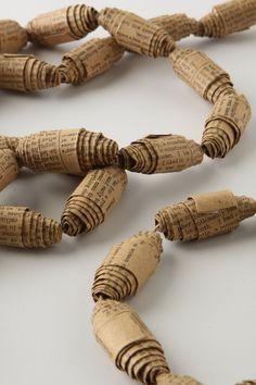 paper bead garland