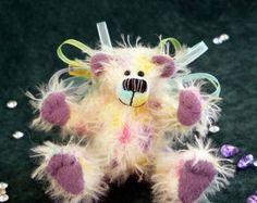 Artist Miniature Teddy Bear PDF Sewing Pattern - Candy Fairy