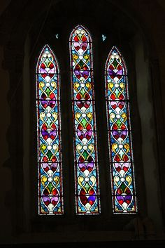 Wonderful stained glass window, Saint Andrews Church, Perfect inspiration for a new hooked rug Stained Glass Church, Stained Glass Art, Stained Glass Windows, Lead Windows, Church Windows, Cathedral Windows, Glass Installation, Rug Ideas, Place Of Worship