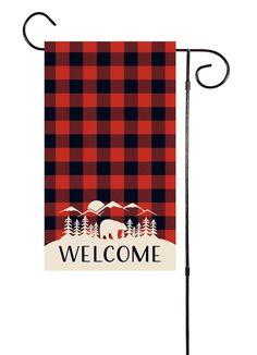 Buffalo Plaid Garden Flag