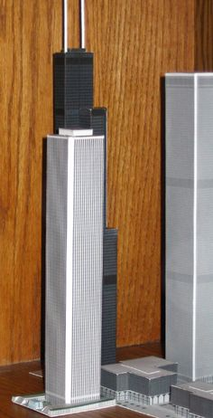 N Scale Buildings, World Trade Center Nyc, Demolition Derby, Futuristic Design, Yesterday And Today, Paper Models, Lego Creations, Model Trains, Urban Design