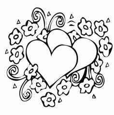 Hearts-and-flowers-coloring-pages
