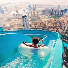 The worlds tallest water slide in Dubai . I love water slides