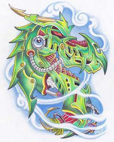 Biomech Dragon by RazorCookie.deviantart.com on @DeviantArt
