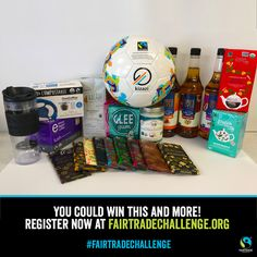 World Fair Trade Day is coming! Register to win these prizes and take the #FairtradeChallenge by clicking the Pin!