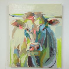 Teil Duncan I LOVE her cows - seriously need to get this when our house is done!  Check her out - Charleston, SC artist and C. Siriano muse!