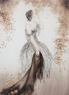 Black Shawl, 1925, Louis Icart