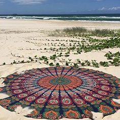 Bohemian Mandala Round Beach Tapestry Hippie Throw Pad Mat Towel Indian Roundie