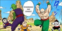 Tenshinhan and Chaozu arrive #DBZ