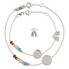 Découvrez notre Coffret cadeau de 2 bracelets maman enfant Rainbow - argent Lennebelle petites. Bracelets Arc en ciel l www.little-home.fr