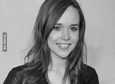Awesome Ellen Page pencil drawing