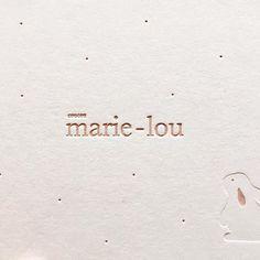 coucou marie-lou #letterpress #pouderpink
