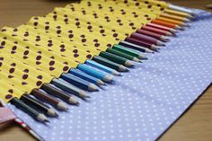 How to Make a Coloured pencil roll/make up brush roll - Love Me Sew DIY tutorial
