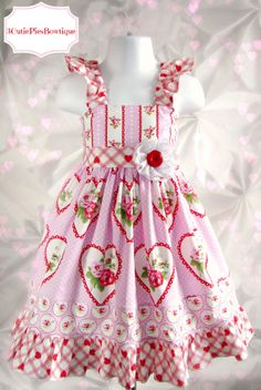 This would be great for Alondra! Little Girl Dresses, Little Girls, Girls Dresses, Flower Girl Dresses, Valentines Day Dresses, Valentine Day Love, Animal Intelligence, Cute Outfits For Kids, Custom Dresses