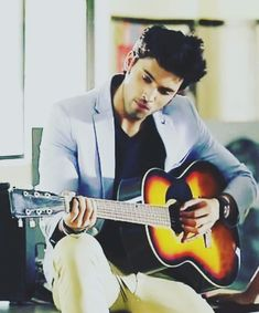 Hun with Guitar is a bliss💋 Dear Crush, My Crush, Tv Actors, Actors & Actresses, Cute Celebrities, Celebs, Crush Pics, First Crush, Cute Photography