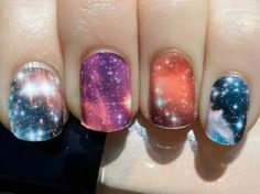 Space nails from Polish or Perish, by Inque by looch