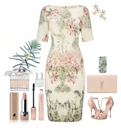 """""""нежно (1084)"""" by tatyana-chernova ❤ liked on Polyvore featuring Adrianna Papell, Alexander McQueen, Yves Saint Laurent, Bonheur, Casetify, Chloé, Marc Jacobs, Forever 21 and Nails Inc."""