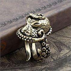 Vintage Bronze Octopus Sea Monster Squid Kraken Punk Antique Ring Retro, http://www.amazon.com/dp/B00LTLTGNQ/ref=cm_sw_r_pi_awdm_iac1vb1GM1A26