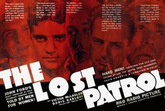 The Lost Patrol: Double page spread from Film Daily
