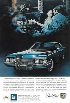 """1970 Cadillac Coupe deville Don/'t Let Another Year Go Original Print Ad 9 x 11/"""""""
