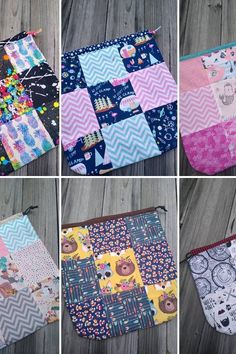 Bolsa de proyecto de lona para… Science, Quilts, Blanket, Crocheting, Dots, Tejidos, Projects, Blankets, Quilt Sets
