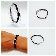 Items similar to Leather bracelet on Etsy Fitbit Flex, Etsy Shop, Trending Outfits, Unique Jewelry, Bracelets, Handmade Gifts, Leather, Shopping, Vintage