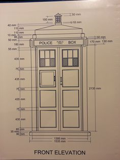 Tardis plans with dimensions. Doctor Who Craft, Doctor Who Tardis, Greenhouse Shed, Doctor Who Companions, Vintage Telephone, Dalek, My New Room, Woodworking, How To Plan